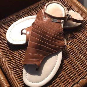 Cognac Emu sandals sz 39, women's 8 (see tag)